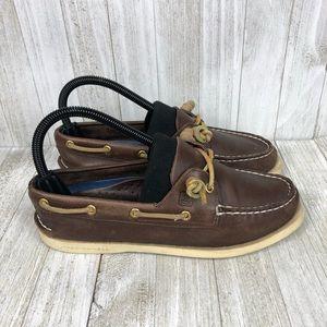 Sperry Authentic Boat Shoe 2-Eye Brown Women's 7
